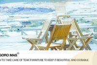 How to Take Care of Teak Furniture to Keep it Beautiful and Durable